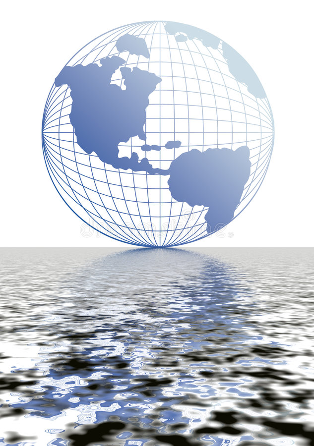 Download Globe With Blue Reflection 12 Royalty Free Stock Photography - Image: 3069527