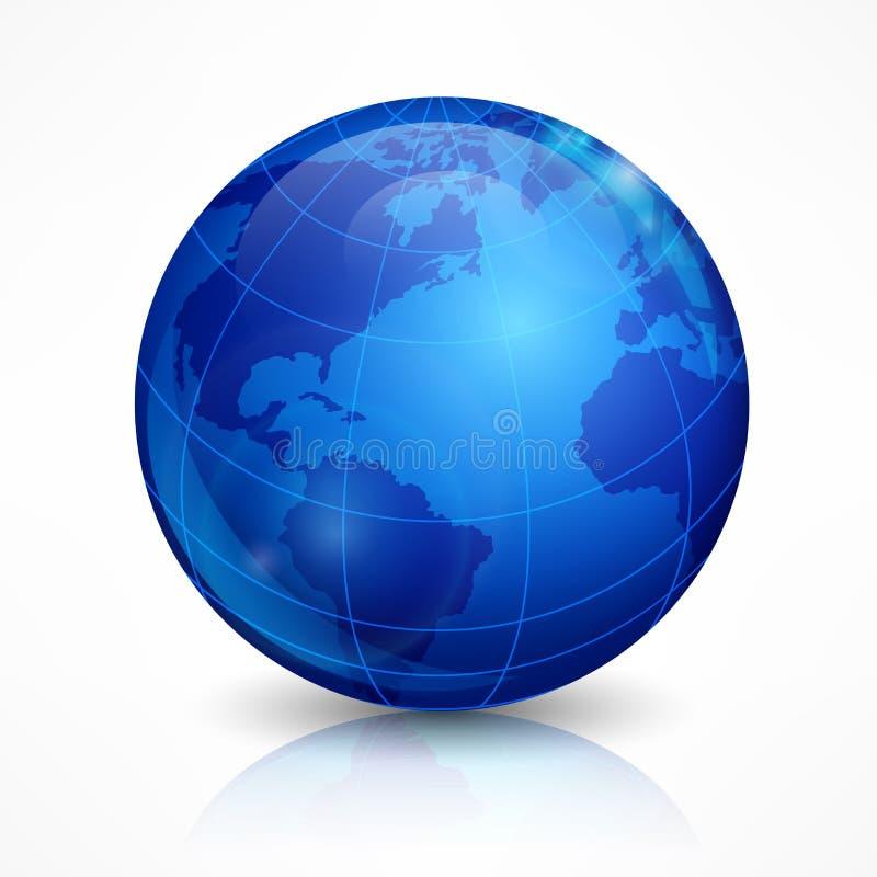 Free Globe. Blue Sphere Earth On White. Vector Illustration Stock Photo - 70766230