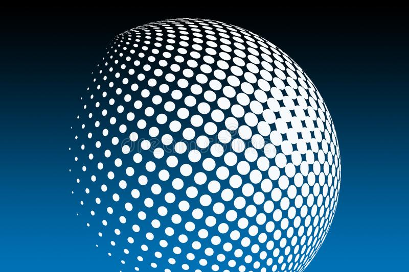 Globe and boll shape  stock images