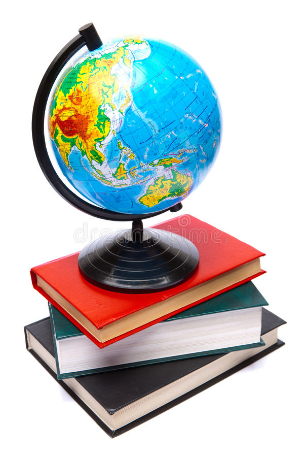 Globe and books royalty free stock photography