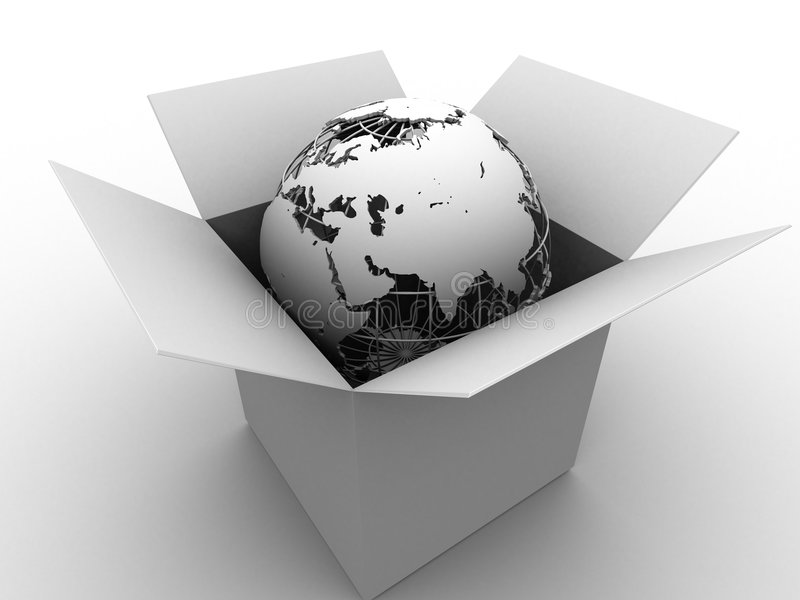 Download Globe In A Box Stock Photography - Image: 2911022