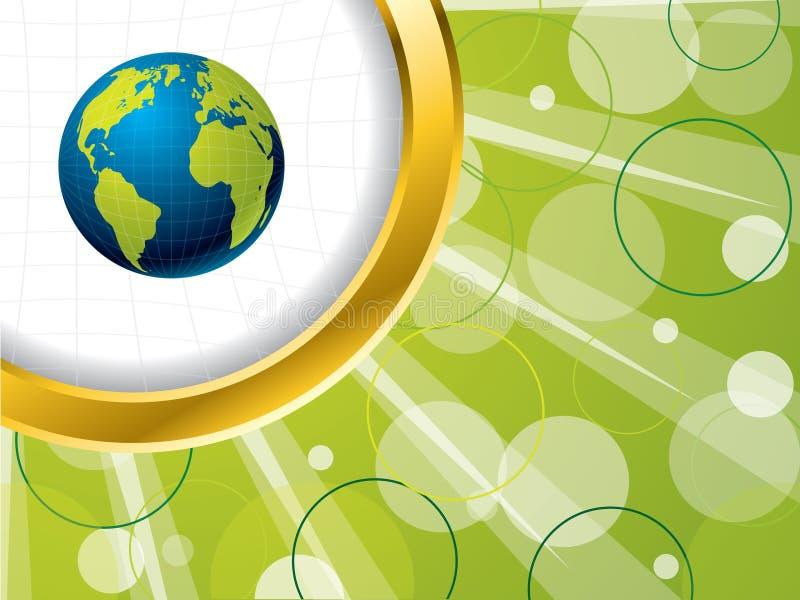 Globe Bursting Background Stock Image