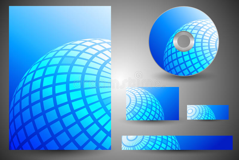 Globe Business Template royalty free illustration