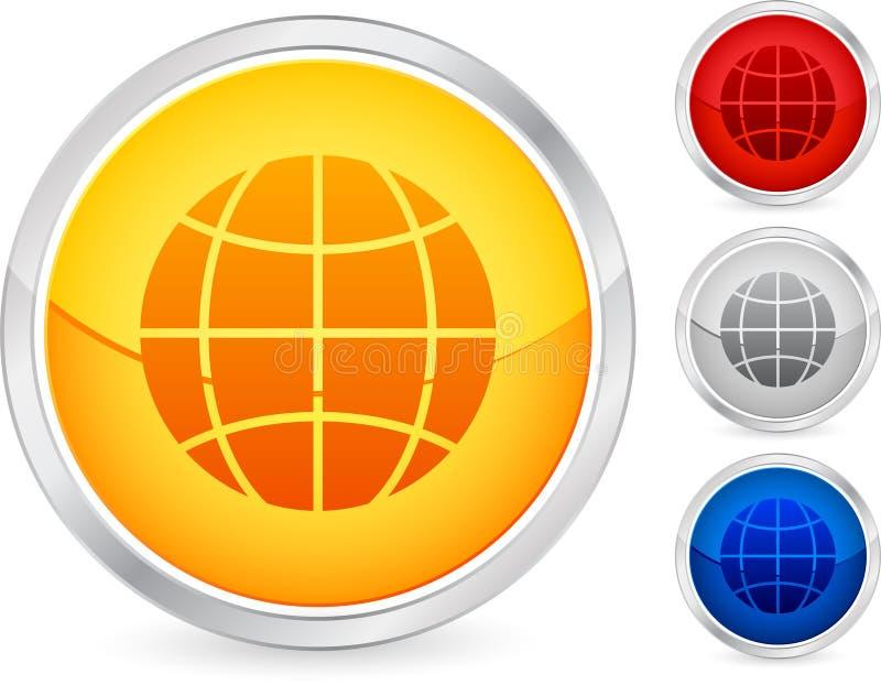 Globe button royalty free illustration