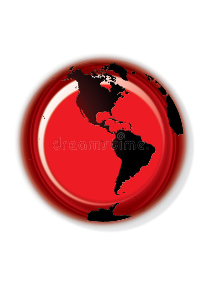 Globe button - white royalty free stock images