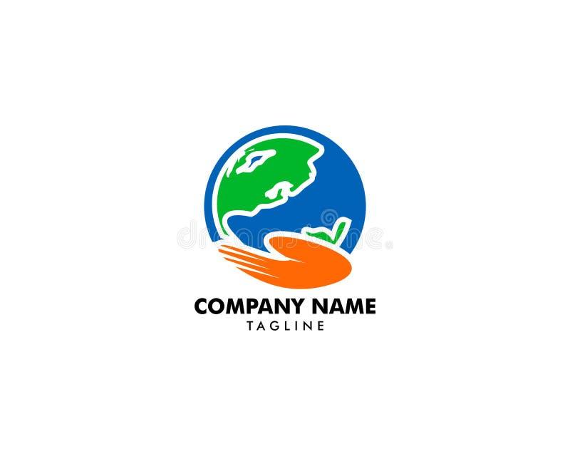 Globe Care Logo Design Element. Globe Care Logo vector illustration