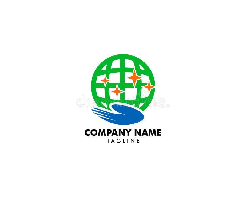 Globe Care Logo Design Element. Globe Care Logo stock illustration