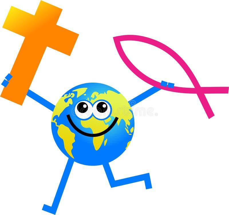 Globe chrétien illustration libre de droits