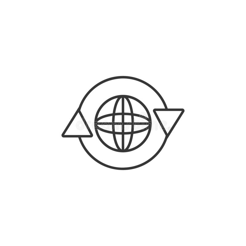 Globe in a circle icon. Simple outline vector of Sustainable Energy set icons for UI and UX, website or mobile application vector illustration