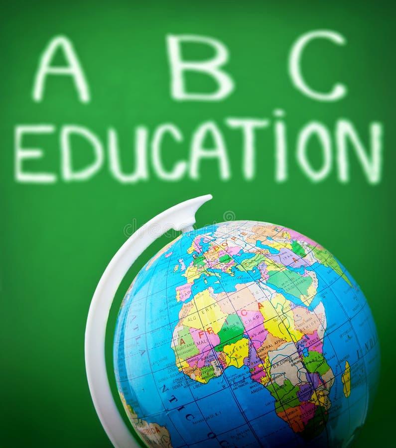 Globe In Classroom Stock Image