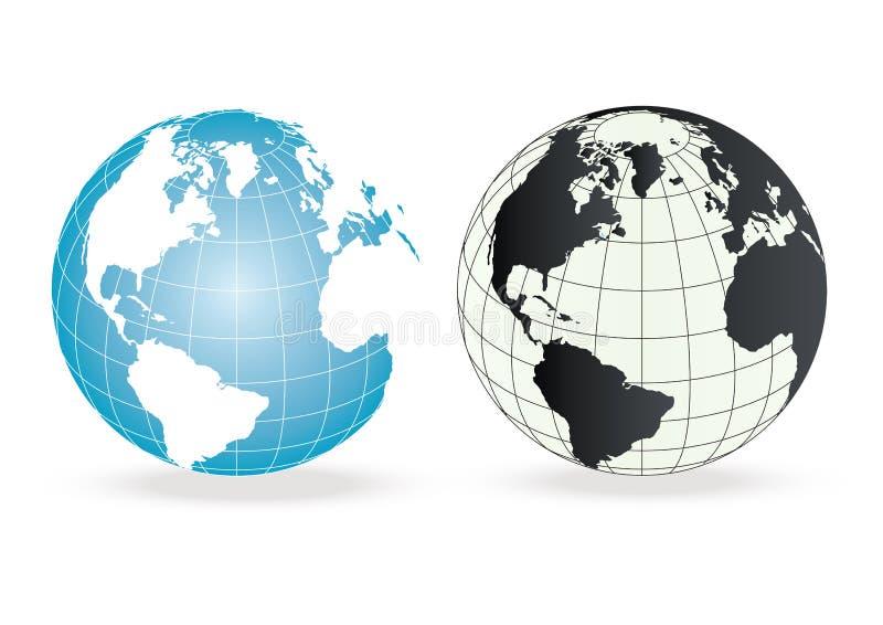 globe coloré illustration libre de droits