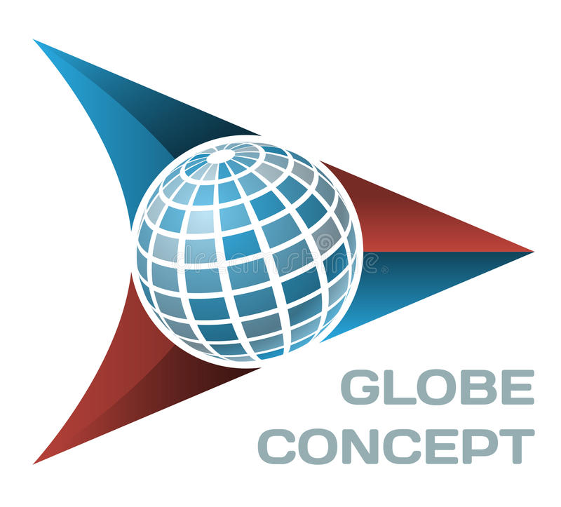 Globe concept royalty free illustration