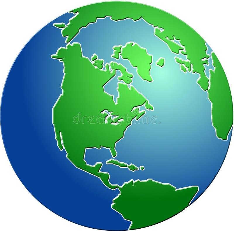 Globe conique illustration de vecteur
