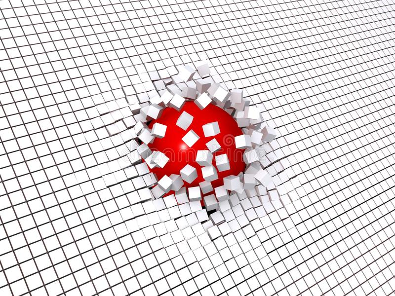 Download Globe - cubes stock illustration. Image of white, drop - 13803826