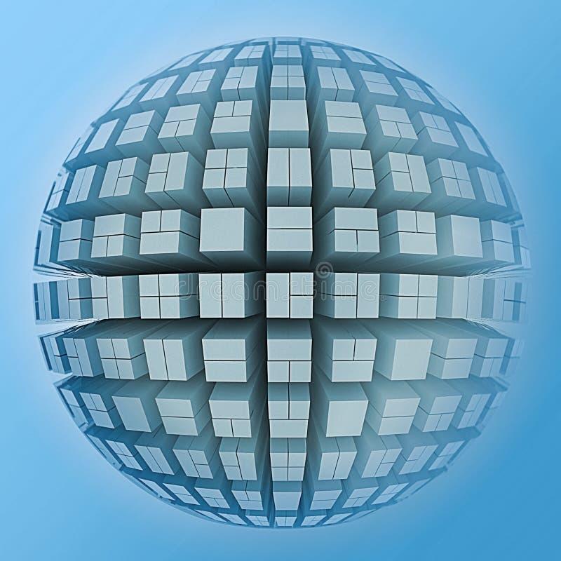 3d Design Using Home Designer Chief Architect Multi Level: 3D Globe And Cubes Stock Illustration. Illustration Of