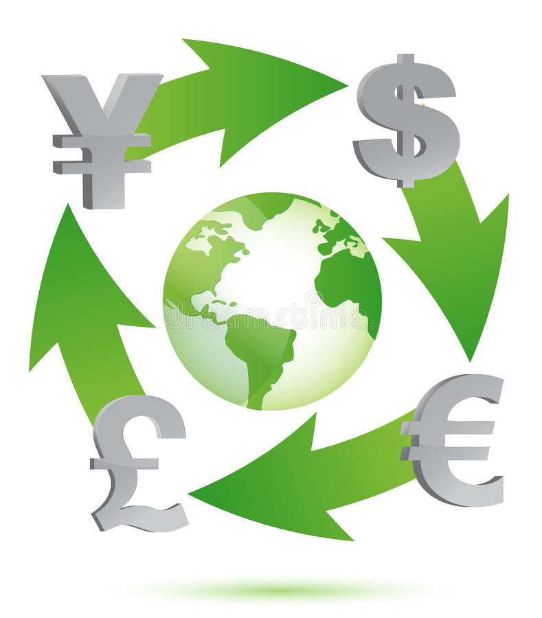 Download Globe With Currency Symbols Stock Illustration - Image: 27394017