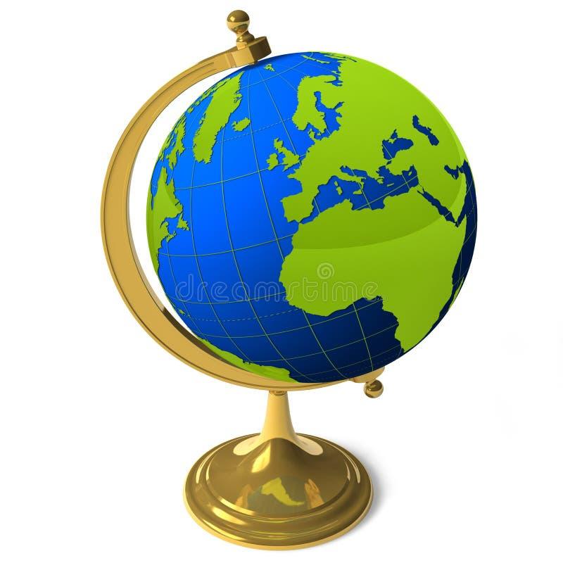 Globe d'école illustration de vecteur