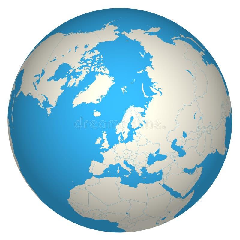 Globe 3D stock illustration