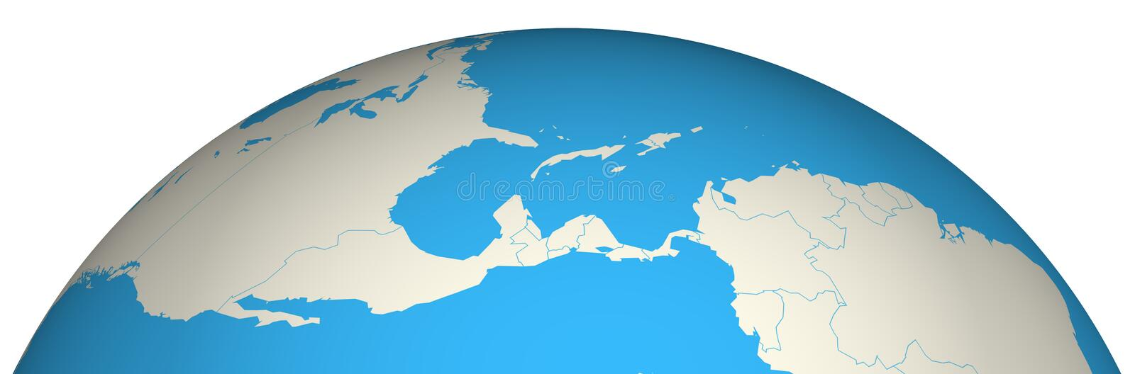 Globe 3D stock illustration