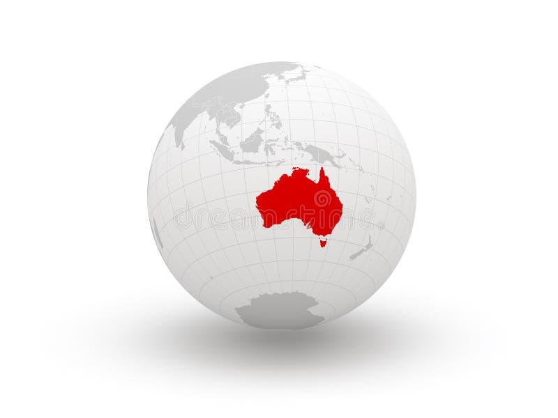 Globe. 3d. Australie. illustration libre de droits