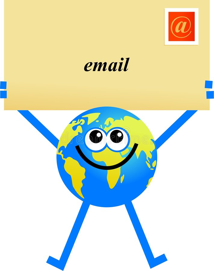 Globe d'email illustration libre de droits