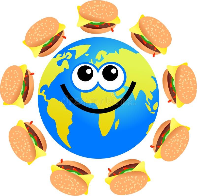 Globe d'hamburger illustration libre de droits