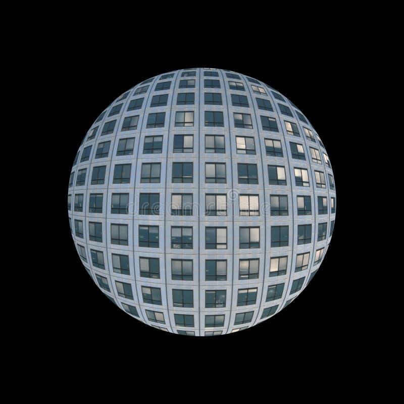 Globe d'hublots de gratte-ciel illustration stock