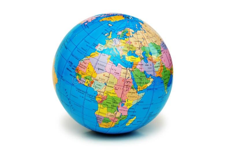 Globe d'isolement images libres de droits