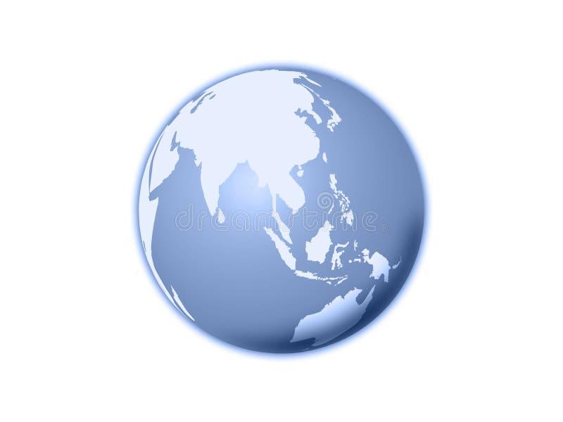 Globe d'isolement du monde illustration libre de droits