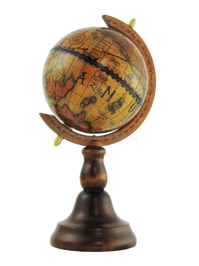 Globe d'isolement sur le blanc photos stock