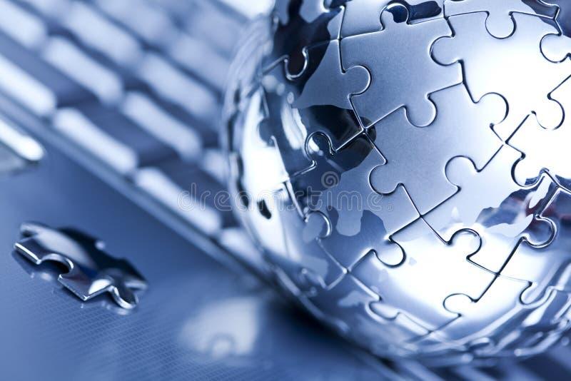globe d'ordinateur photographie stock libre de droits