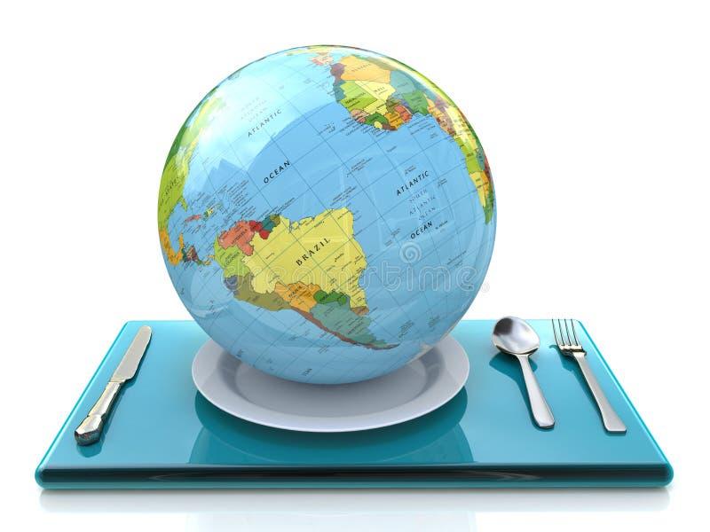 Globe d'un plat illustration libre de droits