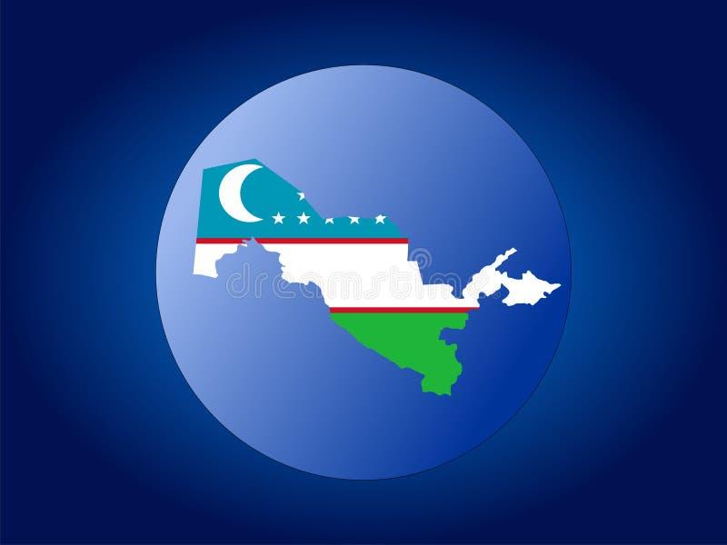 Globe d'Uzbekistan illustration libre de droits