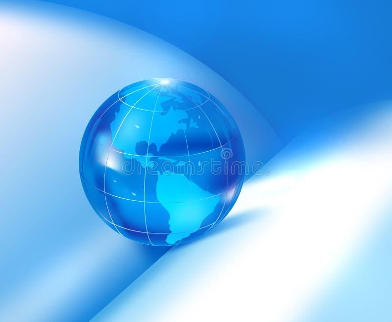 Globe dans le livre illustration de vecteur