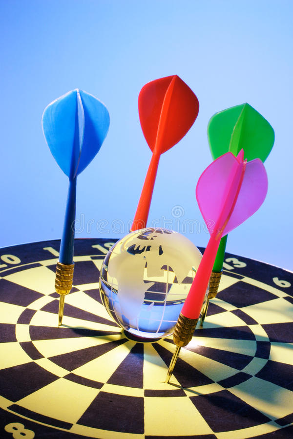 Download Globe and Dart Board stock photo. Image of life, continents - 21416608