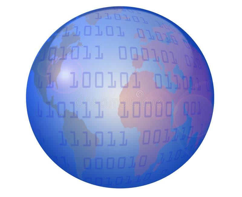 Globe and Data stock illustration