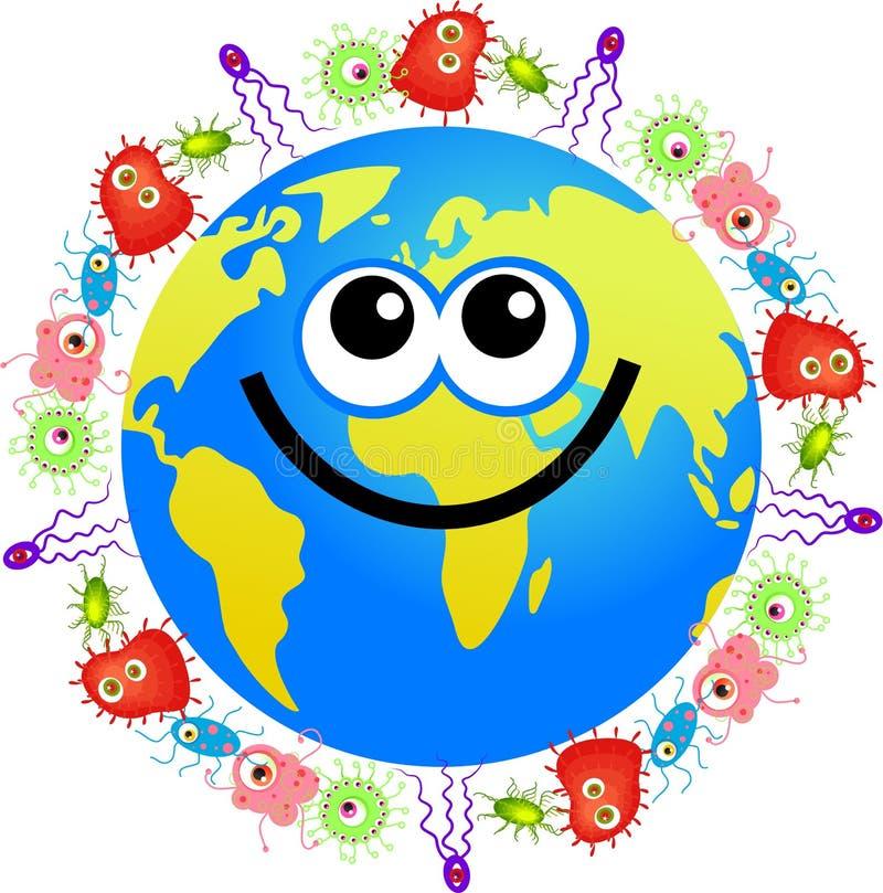 globe de bactéries illustration stock