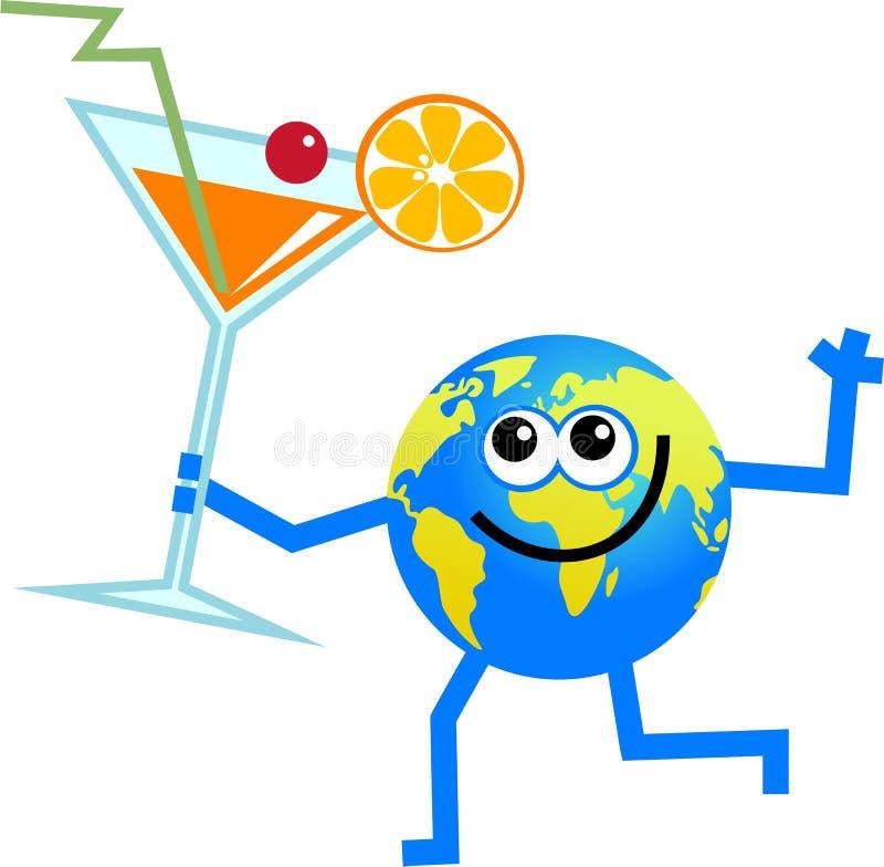 Globe de cocktail illustration stock
