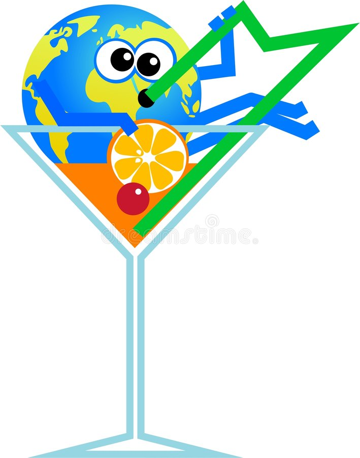 globe de cocktail illustration stock
