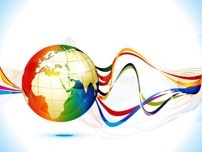 Globe de corporation coloré abstrait de fond illustration stock