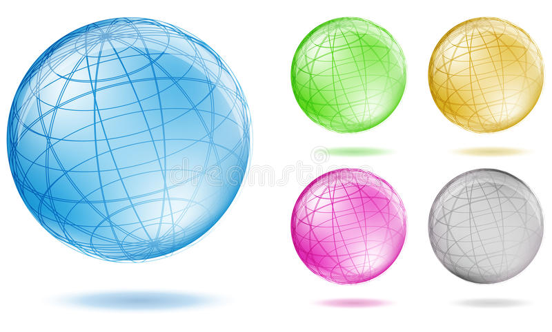 Globe de couleur illustration stock