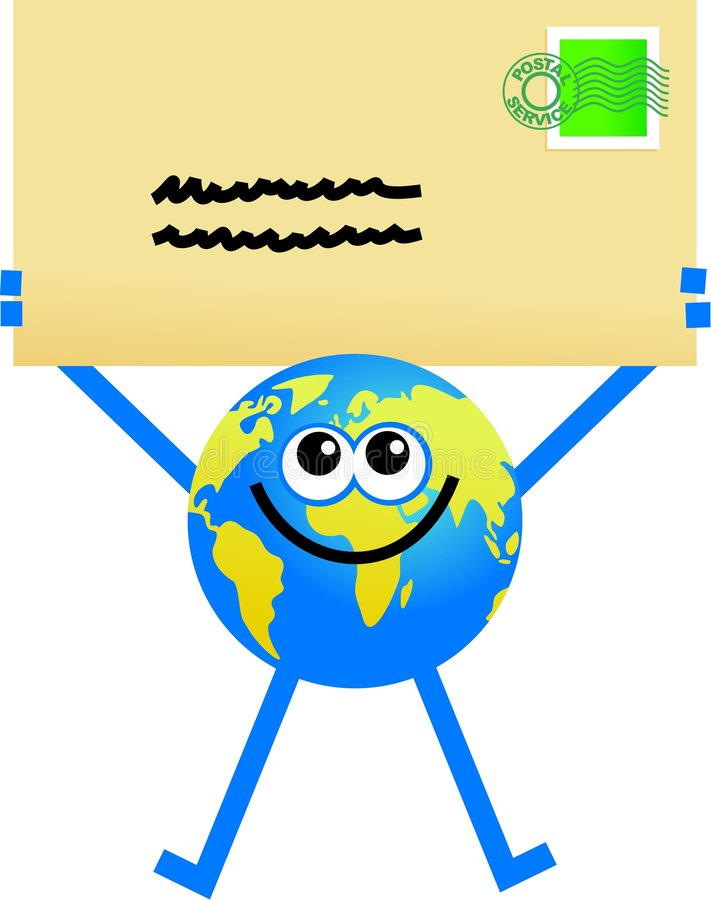 Globe de courrier illustration de vecteur