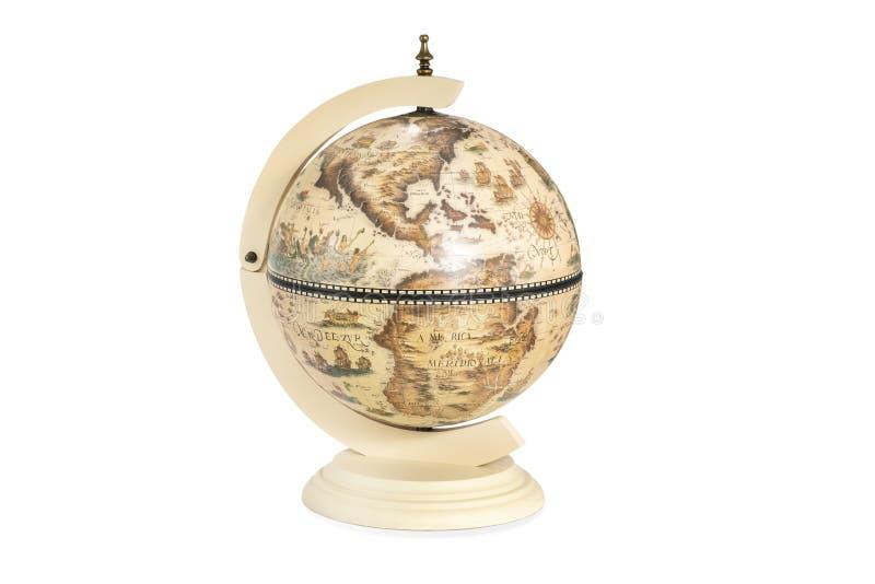 Globe de cru avec l'Amérique dans l'avant images libres de droits