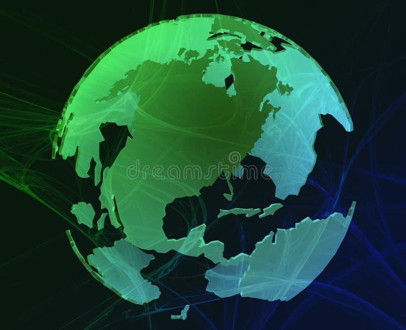 Globe de données illustration de vecteur
