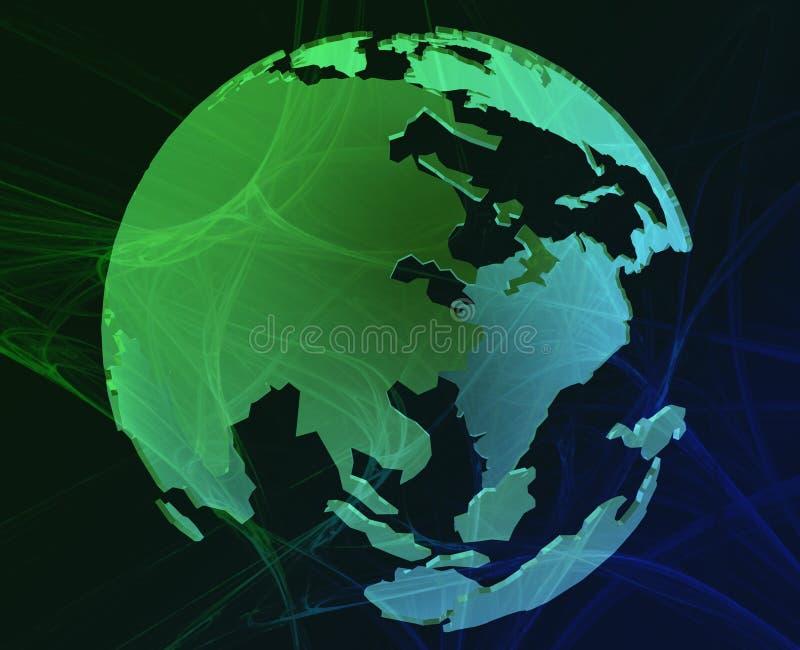 Globe de données illustration stock