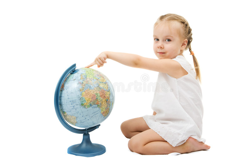 globe de fille photos stock