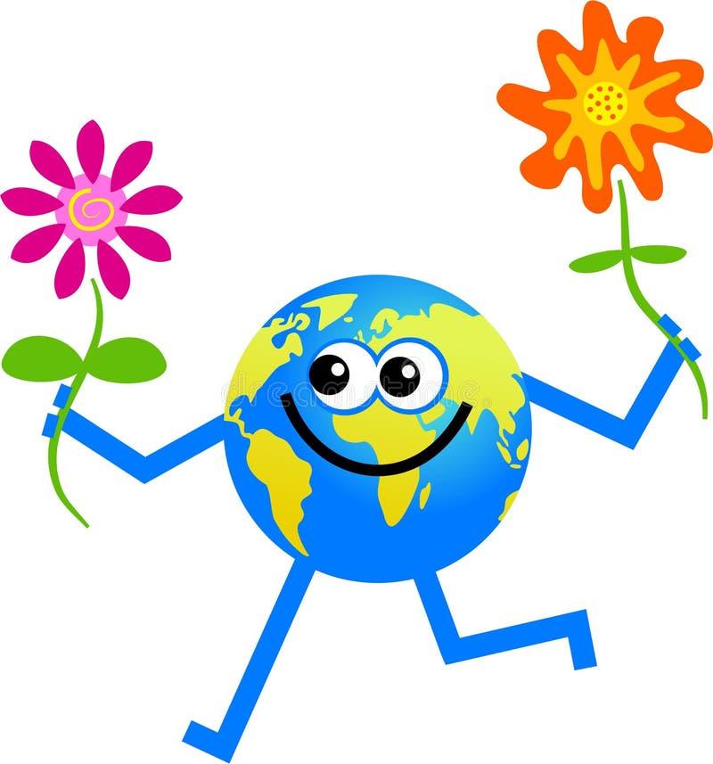 Globe de fleur illustration stock