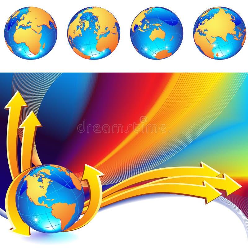 globe de fond illustration stock