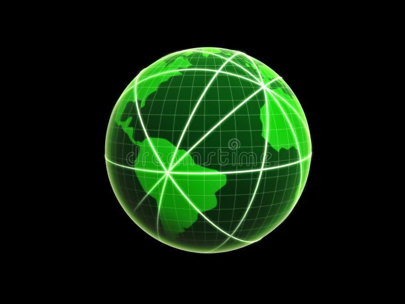 Globe de gestion de réseau illustration libre de droits