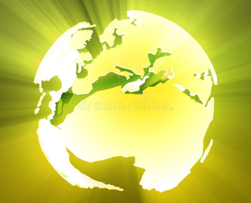 globe de l'Afrique l'Europe illustration stock